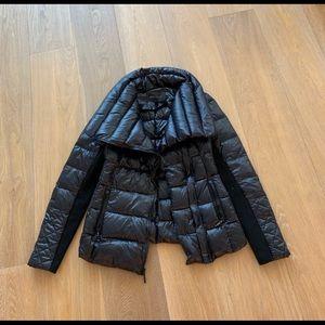 Bcbg down puffer jacket xs black new